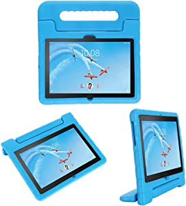 i-original Compatible with Lenovo Tab P10(TB-X705F)/Tab M10(TB-X605F) 10.1 Inch 2019 Case,Shockproof EVA Case for Kids Bumper Cover Handle Stand, Lightweight Protective Cover (Blue)