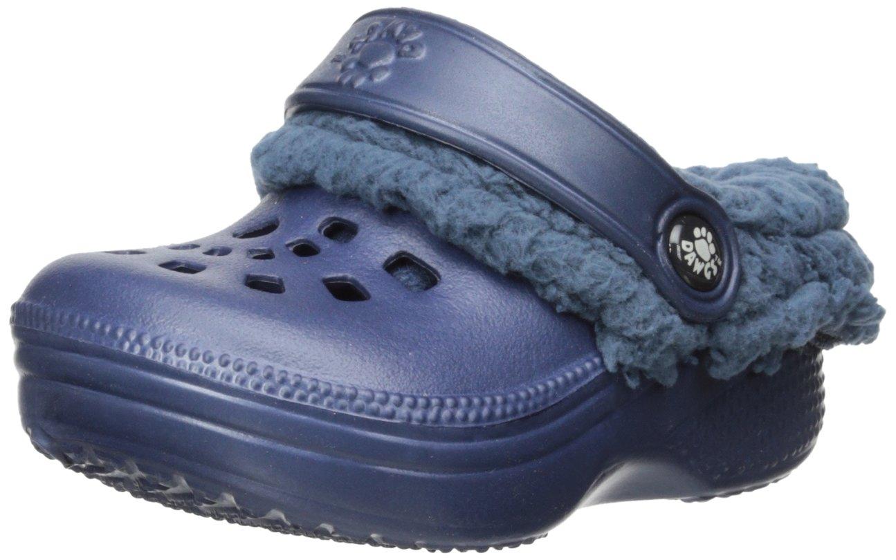 DAWGS Fleecedawgs Clog (Toddler/Little Kid), Navy/Navy, 10 M US Toddler