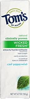 product image for Tom's of Maine Natural Wicked Fresh Fluoride Toothpaste Cool Peppermint 4.70 oz (Pack of 12)