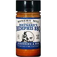 Miners Mix Maynards Memphis BBQ Seasoning. Ultimate Low N Slow Pit Barbecue Championship Rub for Smoked Pulled Pork, Butts, Baby Backs or Spare Ribs