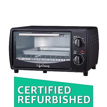 (Certified REFURBISHED) Lifelong LLOT10 650-Watt Oven Toaster Griller (Black)