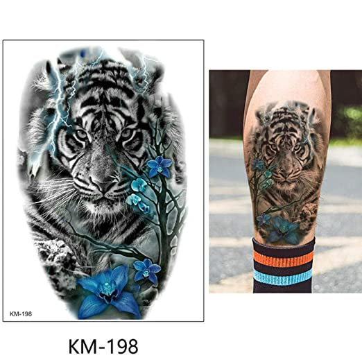 adgkitb 3 Piezas Hoja Tatuaje Temporal Pegatina Flor Animal Falso ...