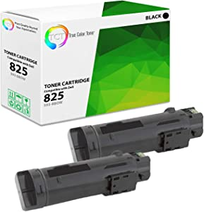 TCT Premium Compatible Toner Cartridge Replacement for Dell 825K 593-BBOW Black Works with Dell H625CDW H825CDW S2825CDN Printers (3,000 Pages) - 2 Pack