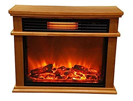 NEW See Through Electric Fireplace Easy Large Room Infrared Fireplace  Includes Deluxe Mantle In Burnishe