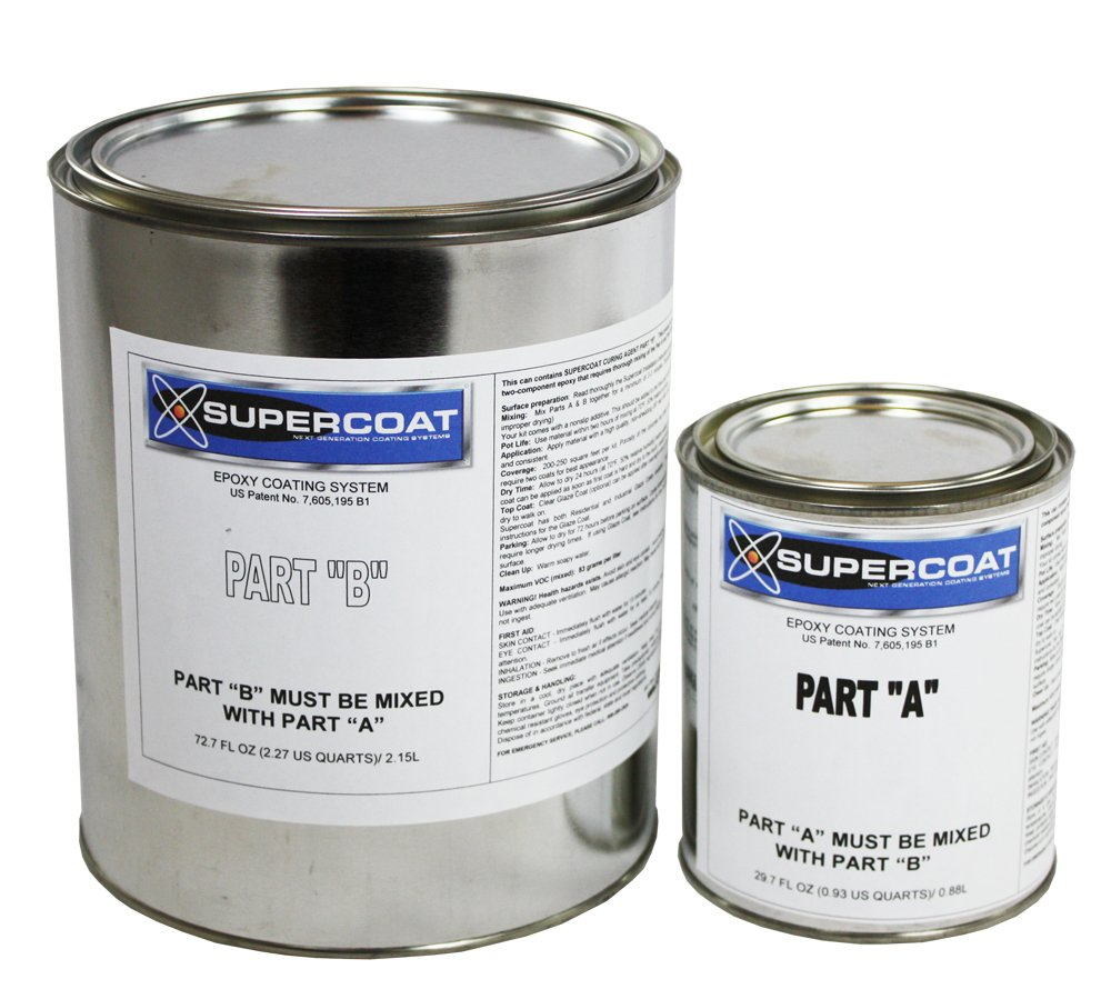 SUPERCOAT Slate Gray Epoxy Floor Coating