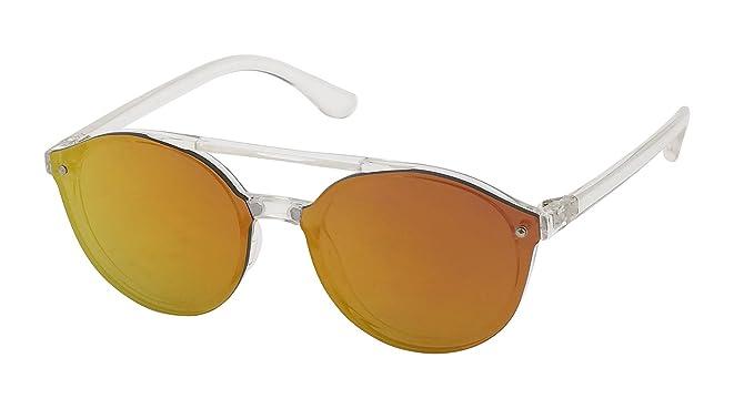 Sonnenbrille Pilotenbrille 400 UV Cateye Round Glasses dünne Metallbügel