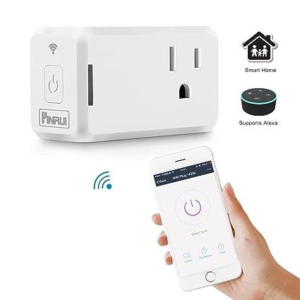 allomn Mini Wireless WiFi enchufe inteligente con función de calendario, trabajo con Alexa Echo/