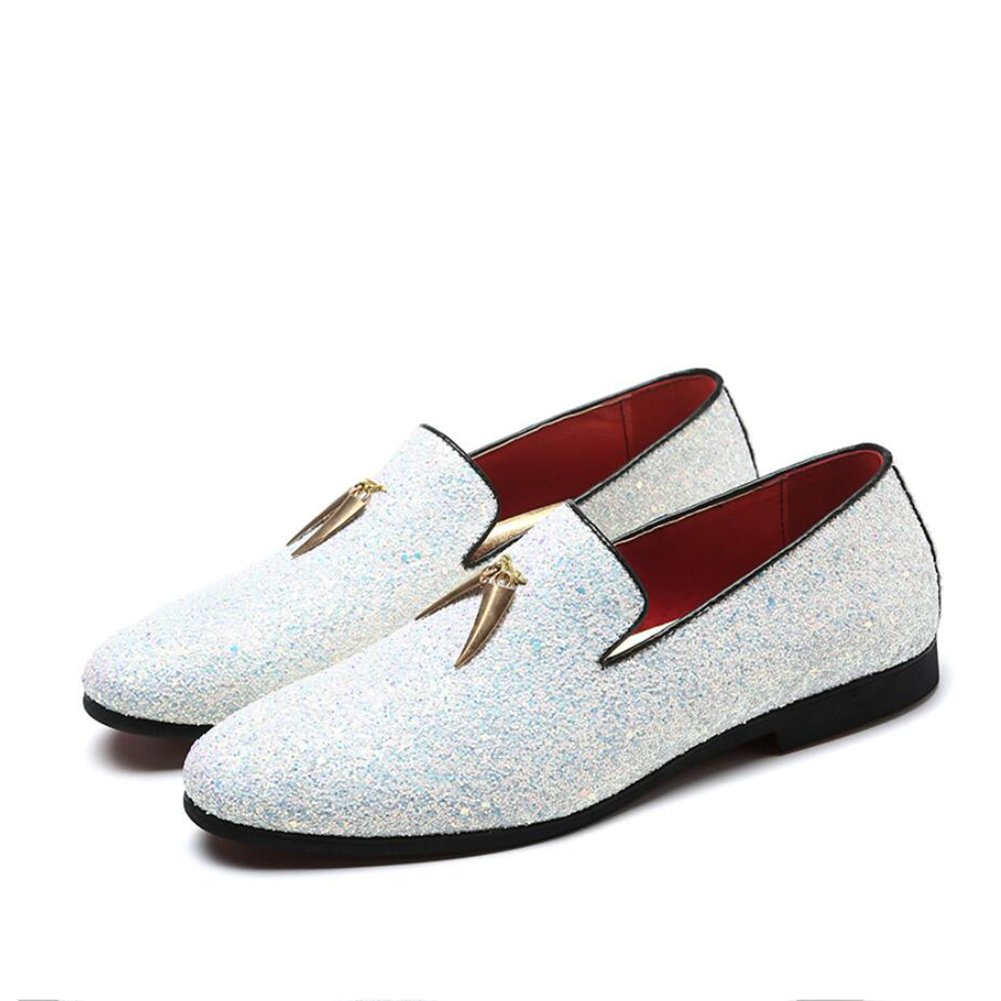 XUEXUE Men's PU Shoe Spring Summer Loafers & Slip-Ons Driving Shoes Lazy Shoe Casual Breathable Comfort Formal Business Work Party & Evening Athletic (Color : A, Size : 37)