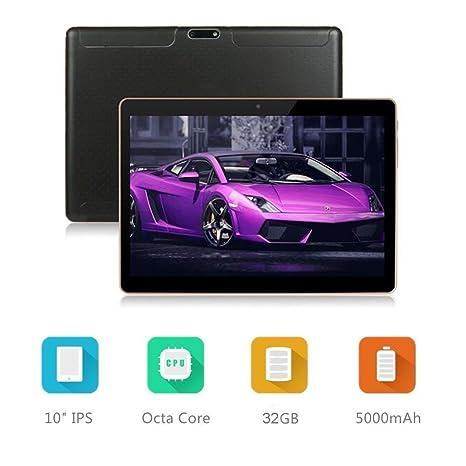 Dieniu Unlocked Pad Tableta Android Octa Core 3G de 10 Pulgadas con Doble Ranura para Tarjetas SIM 2GB RAM 32GB ROM WiFi Incorporado Bluetooth GPS ...