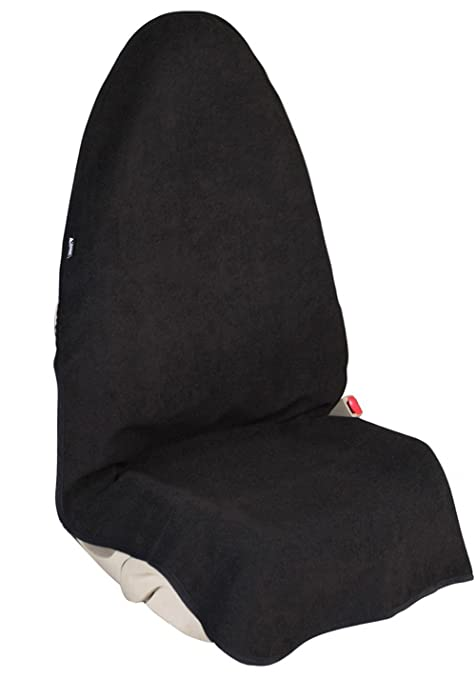 Waterproof Sweat Towel Front Bucket Seat Cover For Cars Truck SUV Black