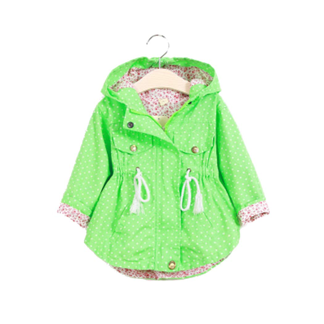 xzbailisha Fashion Childrens Girls Jacket Outwear Casual Hooded Coats
