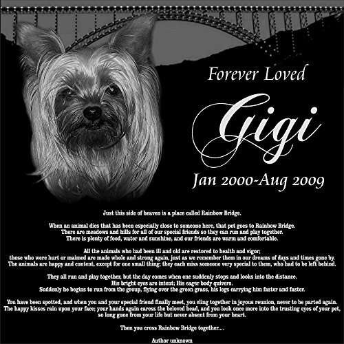 Personalized Pet Dog Cat Memorial with Rainbow Bridge Poe...