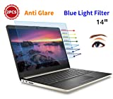 "(2PCS Pack) HP 14 inch Laptop Screen Protector Anti Blue Light Glare for 2019 HP 14"" Laptop/HP Pavilion X360 14/HP Chromebook 14/HP Stream 14/HP ProBook 14, Eye Protection Computer Monitor Protector"
