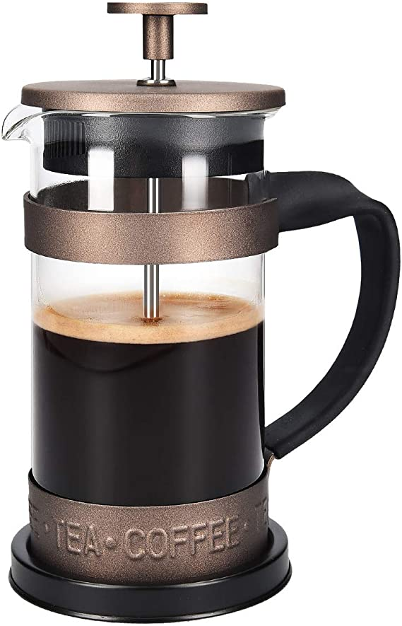 Navaris Cafetera Francesa de Acero Inoxidable de 350ML - Cafetera ...