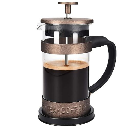Navaris Cafetera Francesa de Acero Inoxidable de 350ML - Cafetera ...