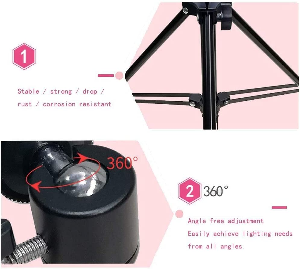 Mobile Phone Live Fill Light Triangle Live Light Lamp Photography Multi-Function Bracket Anchor Beauty Tender Skin Soft Light Shooting Light Camera Light Still Life Shooting Floor Hd Ring Light Selfie