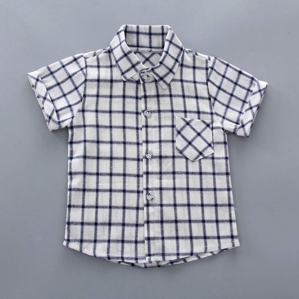 Shorts Outfits Set Tronet Summer Outfits Set Infant Baby Boy Kid Gentleman Plaid Printed T Shirt
