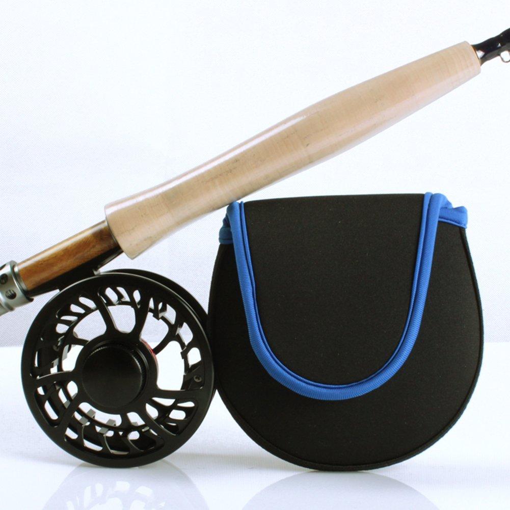 Chytaii Angelrolle Abdeckung Wasserdicht Spinning Reel Cover Karpfenangeln Tasche Fliegenrollen Tasche Blau
