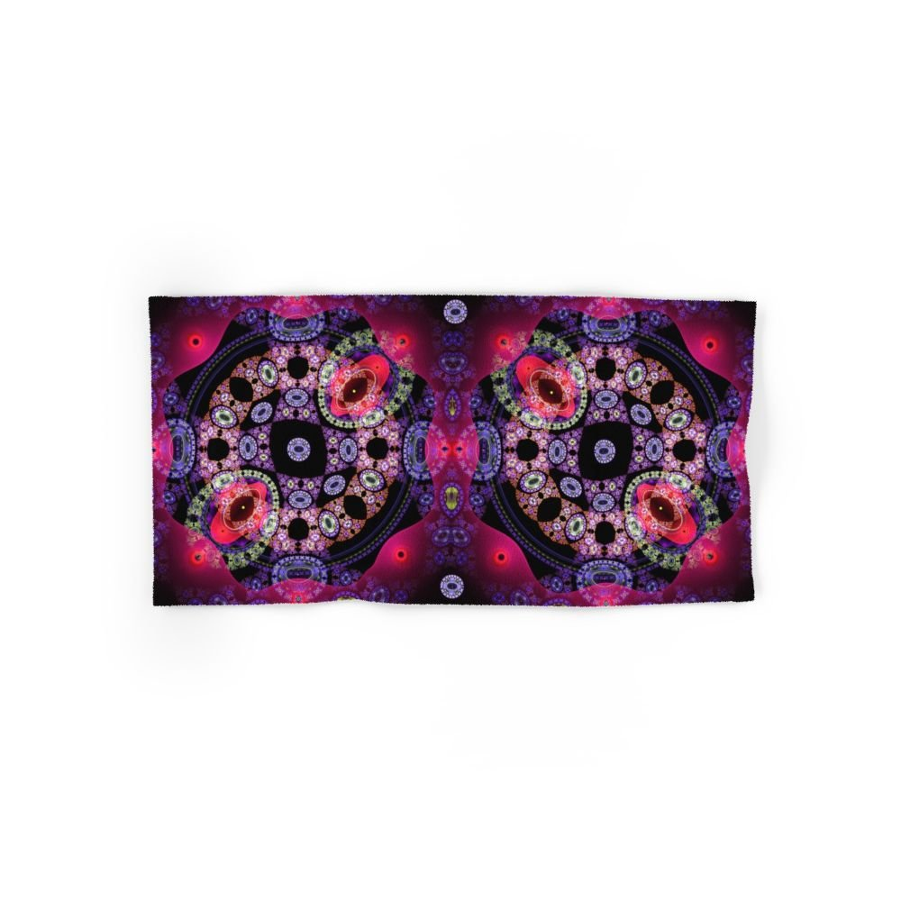 Society6 Dance In Pink And Purple, Abstract Pattern Design Set of 4 (2 hand towels, 2 bath towels)