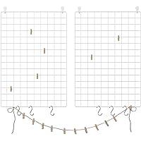 SONGMICS Juego de 2 Paneles de Malla, Pantalla para Foto, 65 x 45 cm, Decoración de Pared Metálica, Múltifuncional…