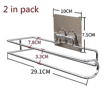 UNIQUE-F Ventosa Rollo Titular Cocina Cuarto de baño Metálico Toalla de Mano Titular Toallero Simple Simple Práctico Seguro: Amazon.es: Hogar