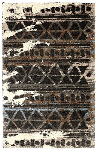 Cheap Mohawk Home Huxley Urban Grid Distressed Aztec Style Woven Shag Area Rug, 5'x8′, Multicolor