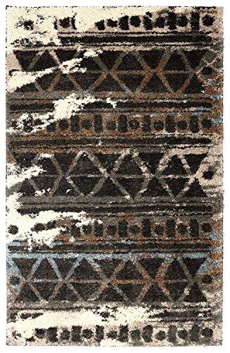 Mohawk Home Huxley Urban Grid Distressed Aztec Style Woven Shag Area Rug, 5 x8 , Multicolor