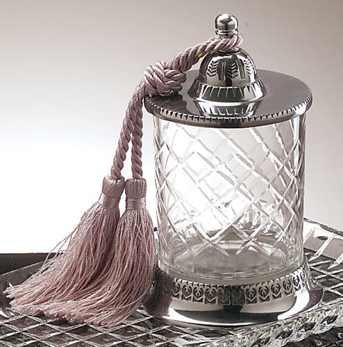 Badash SN75E Multi-Purpose Covered Jar with Tassel No Candle