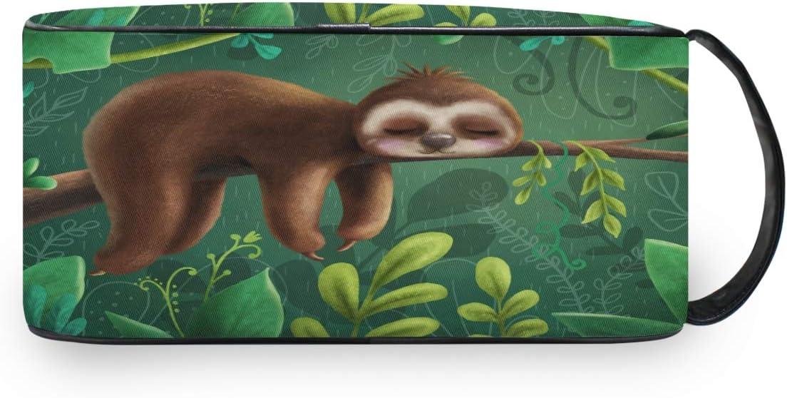 QMIN - Neceser portátil con diseño de Palmera de Animales, Bolsa de Viaje multifunción, Bolsa de Maquillaje, Bolsa de Almacenamiento para niños, niñas, Mujeres, Hombres
