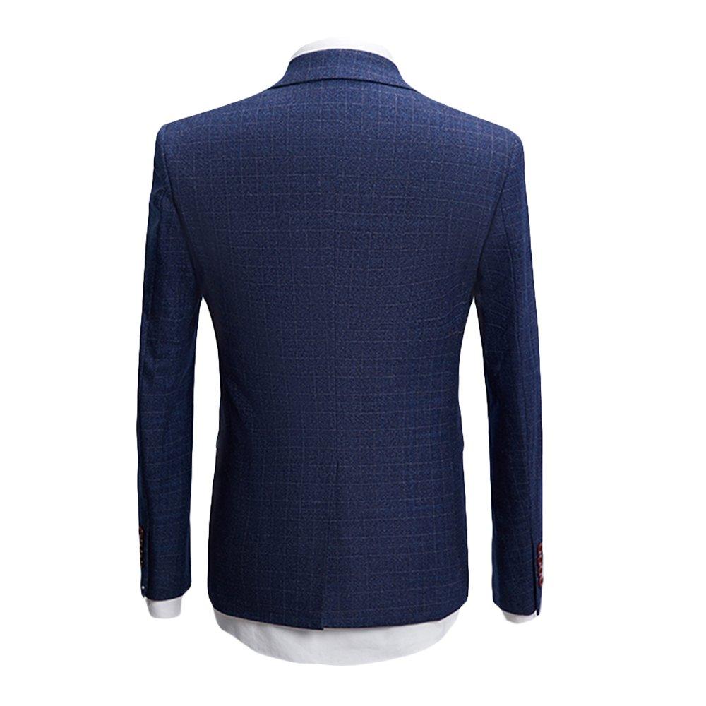 MAGE MALE Men's 3-Piece Suit Fine Lattice Pattern Business Suit Slim Single-Breasted Jacket Vest Pants Suit by MAGE MALE (Image #3)
