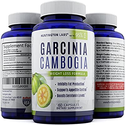 Best Garcinia Cambogia Extract Raw 95% HCA Weight Loss Pills for Women and Men - Fat Burning Supplement Boost Metabolism and Increase Energy - Natural Antioxidant for Immune System, 60 Capsules