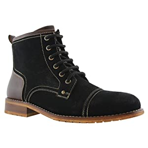Ferro Aldo AF37 Men's Chic High Top Work Casual Dress Boot Shoes, Color:BLACK, Size:6.5