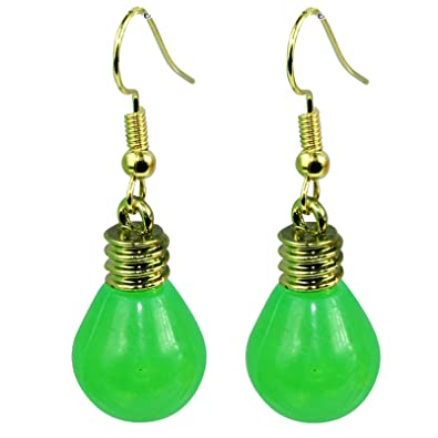 ce17cbecc The Funky Barcode GARDEN PARTY GREEN DANGLE EARRINGS Complete With Gift  Box: Amazon.co.uk: Jewellery