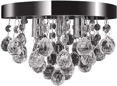 vidaXL Pendant Lamp Crystal Design Chrome Ceiling Lighting Fixture Chandelier