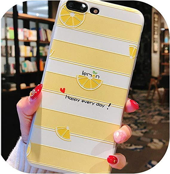 Amazon Com Summer Lemon Cases For Iphone Soft Silicone Tpu Back Cover Shell Coque Q9 For Iphone Se