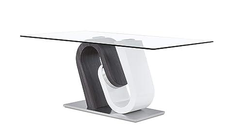 Amazon.com: Global muebles d4127dt mesa de comedor, BR/gris ...