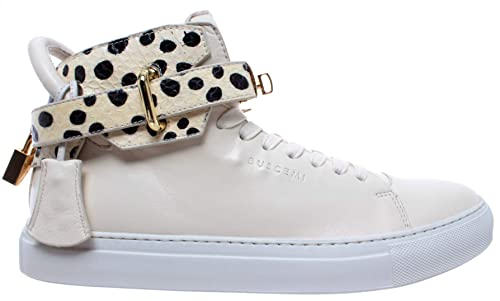 BUSCEMI Scarpe Uomo Sneakers Panna White Roccia Python Gold 100MM Handmade  Italy c83f9a7c1ec