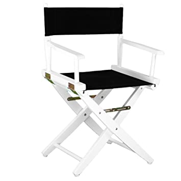 Terrific Casual Home 18 Inch High Directors Chair White Frame With Black Canvas Cover Pdpeps Interior Chair Design Pdpepsorg