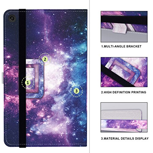 Ztotop Folio Case for Amazon All-New kindle Fire HD 10 Tablet (2017 Release, 7th Generation) - Smart Cover Slim Folding Stand Case with Auto Wake / Sleep,Galaxy Photo #7