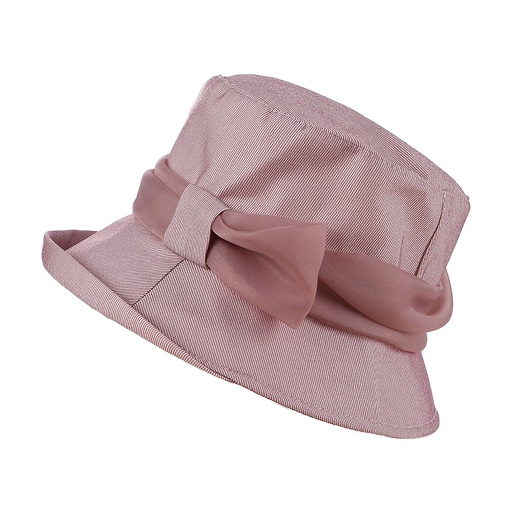 Woman Girl Bowknot Bucket Hat Curled Brim Sun Cap for Summer Spring Beach  Travel Beige at Amazon Women s Clothing store  a0d651023eec