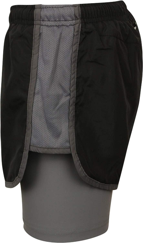 para mujer Pantalones cortos 2/en 1/para hacer deporte transpirables