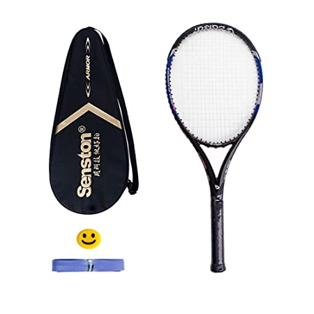 Senston 27 Tennis Racket Professional Tennis Racquet Good Control Grip Strung with Cover Tennis Overgrip Vibration Damper