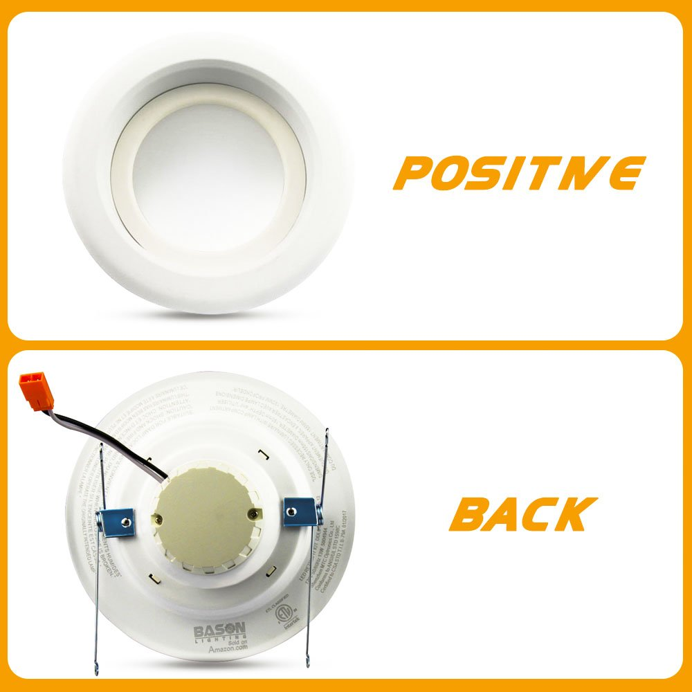4 Inch LED Recessed Lighting Retrofit Kit 5000K Baffle Trim Remodel New Construction Dimmable Daylight Bright White 9W Replace 75 Watts 4 Pack BASON LIGHTING DDL4-009T009UW-12