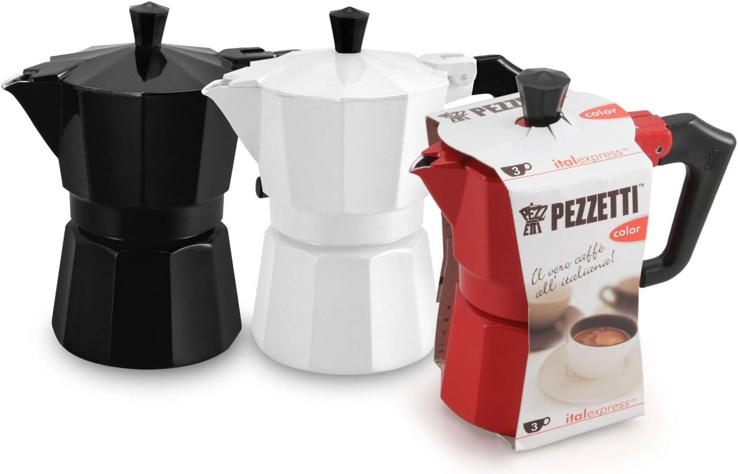 6 CUP Pezzetti Black MOKA Espresso Coffee Maker Induction Percolator Perculator