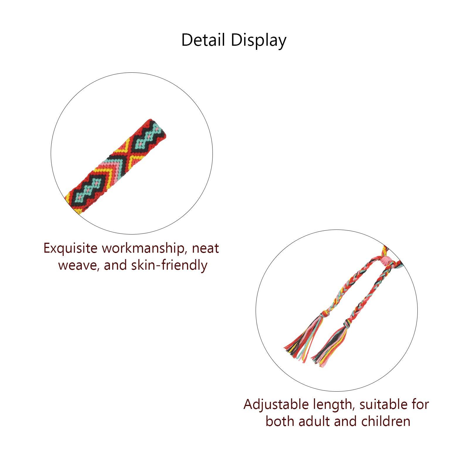 Matogle 8pcs Wrist Woven Bracelets Nepal Braided Bracelet Handmade Friendship Bracelets in Multi Colors for Girl Women Teenagers
