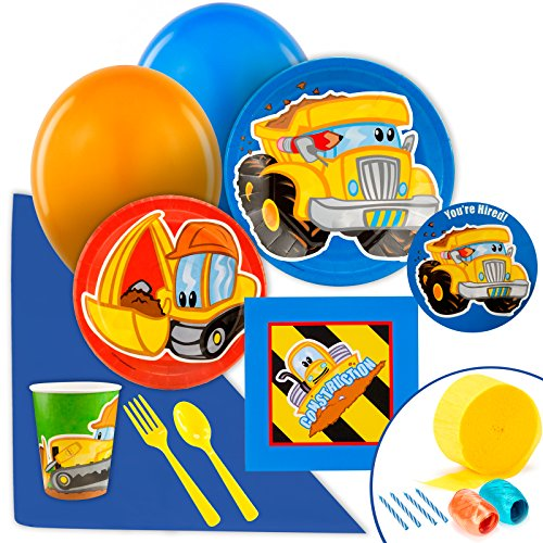 BirthdayExpress Construction Party Supplies - Value Party Pack