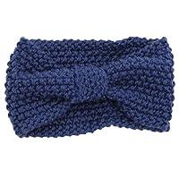 Tolooggo Damen Gestrickt Stirnband Häkelarbeit Schleife Design Winter Kopfband Haarband