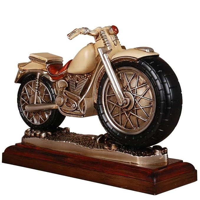 Amazon.com: Family Fireplace Clocks Desktop Watch Tablecloth Clocks Living Room Resin Retro Mute Motorcycle Foot Bed Decoration ó n Clock P é Pendulum ...