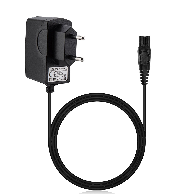 waukru 15V 0.5A Cargador Cable de carga para afeitadora Philips Serie S RQ de serie s9711S9111S9031s7780S7720s7370S7310S5510s5420S5400S5100rq360rq1141Rq1150, RQ1160RQ1175RQ1180rq1187RQ1195RQ1250 EU-15V0.5A-S