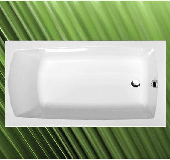 Bañera 130 x 70 x 39 cm de flores, acrílico blanco, con bañera pies/tacos de pared: Amazon.es: Bricolaje y herramientas